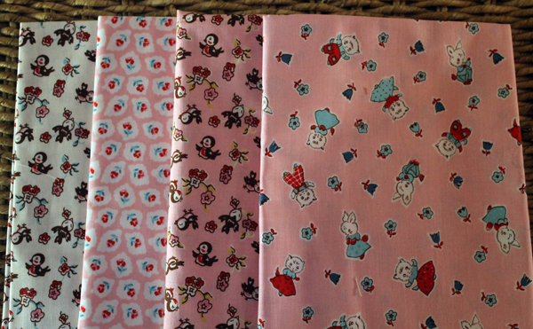 Milk Sugar Flower Fabric