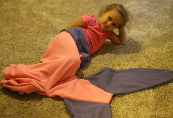 Piper and her mermaid tail