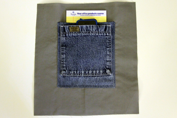 pocket for shopping tote