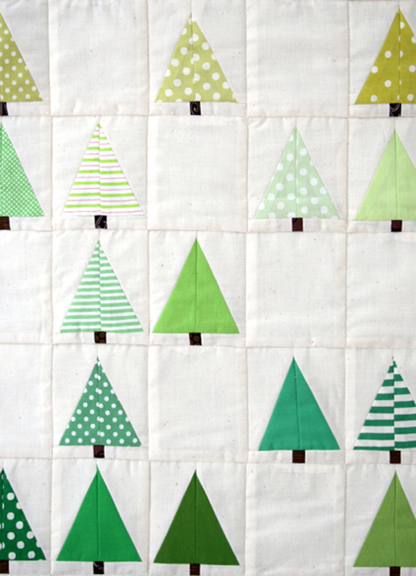 tree quilt pattern from Purl Bee