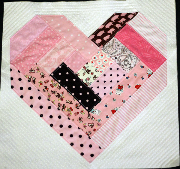 Block Six -- February -- Quilt as you Go