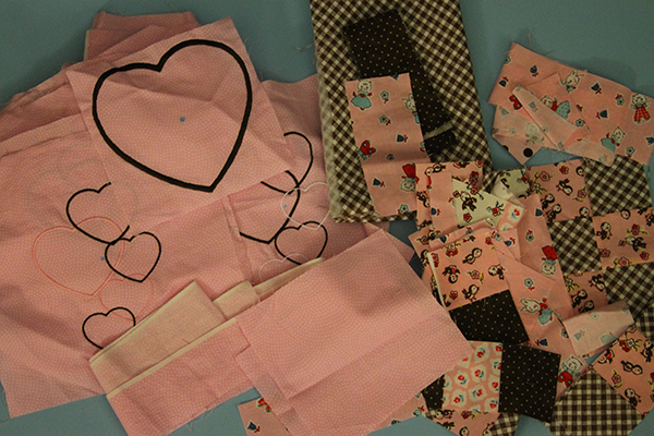 Fabric for Adley's name pillow