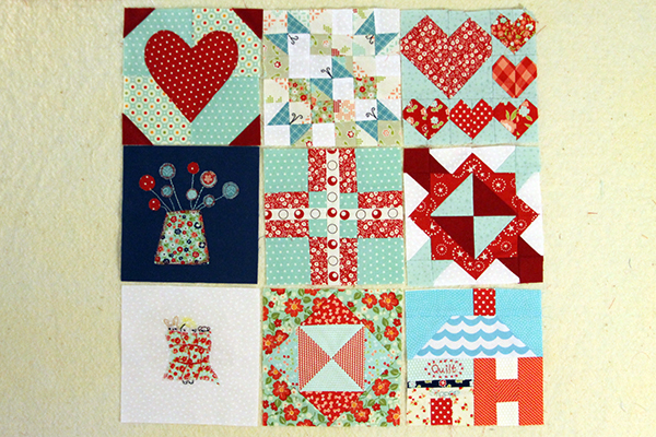 nine blocks of the splendid sampler