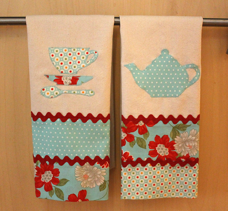 Tea Towels with Moda Fabrics by Bonnie and Camille