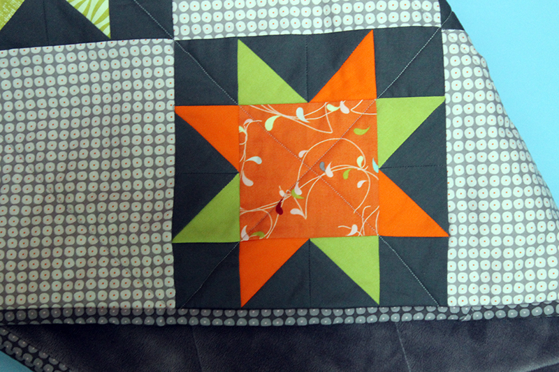 "Baby Rock Star Quilt with Moda ""Flow"""
