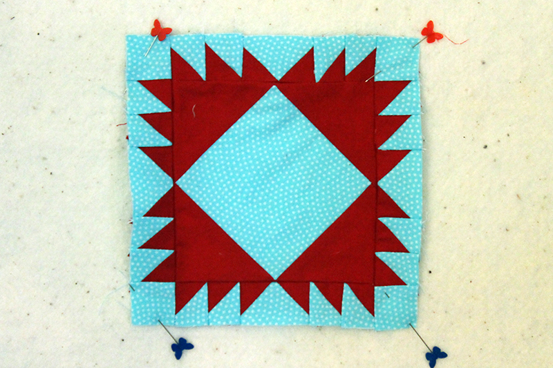 Block 65, Stripes and flowers, The Splendid Sampler