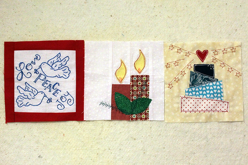 Splendid Sampler -- Week 31, block 88, bonus blocks Christmas Lights and Happy Birthday