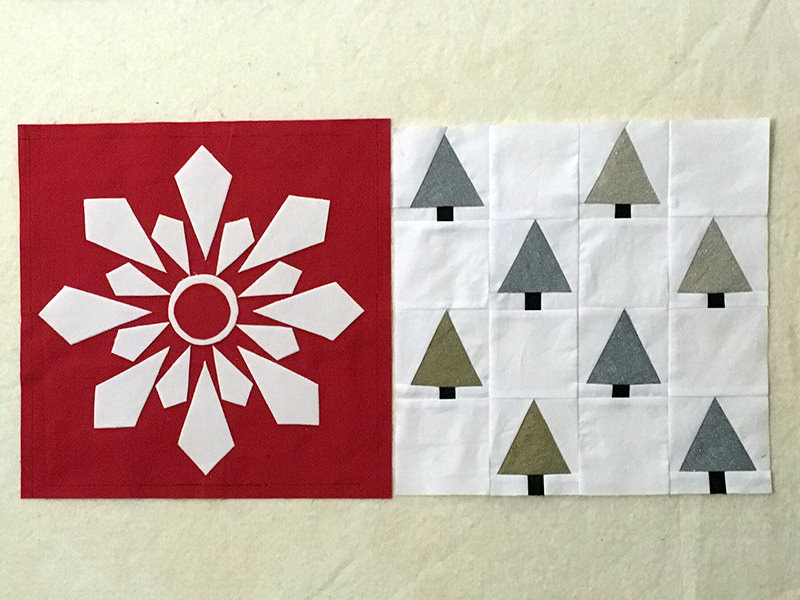 I Wish you a Merry Quilt-A-long! Blocks 1 and 2