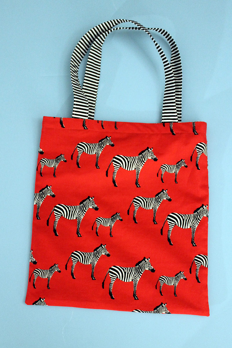 Simple Lined Tote