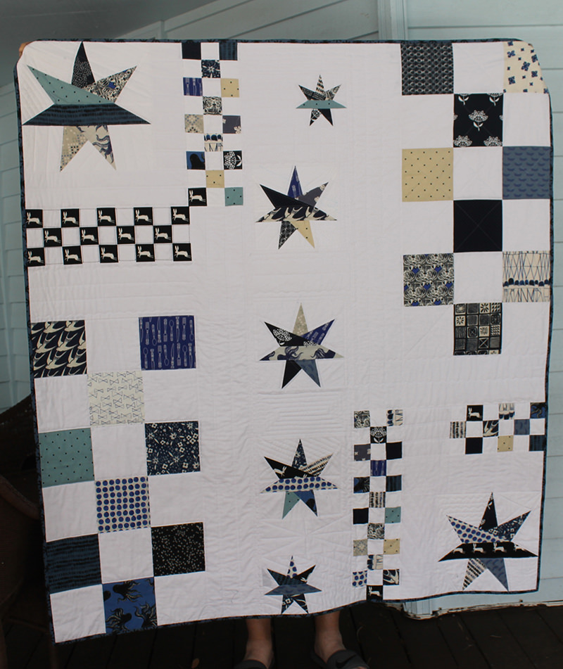 """""""Down the Rabbit Hole"""" Quilt -- Finished!"""
